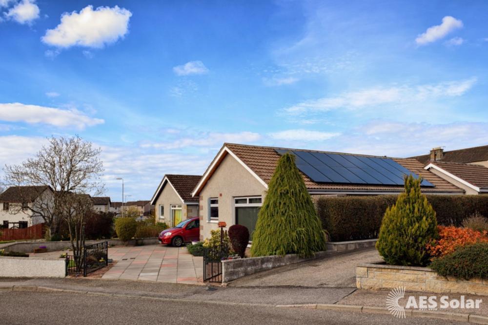 All-black Solar PV in Forres, Scotland
