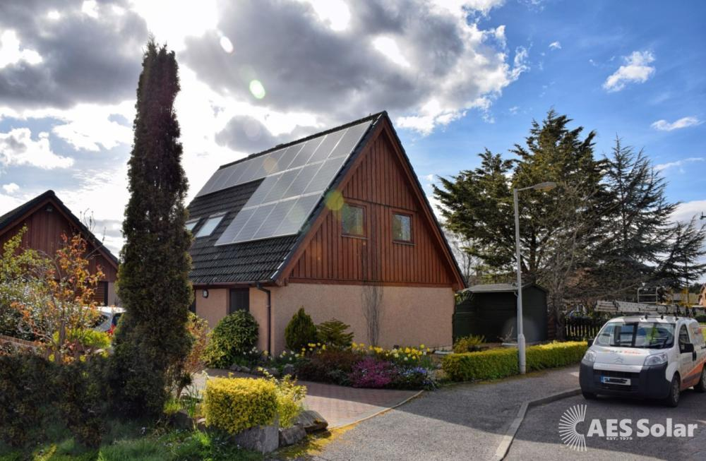 Solar PV installation in Forres, Scotland