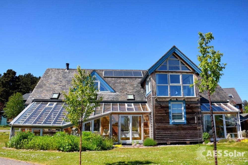 AES Endurance solar thermal panels, Findhorn, Moray