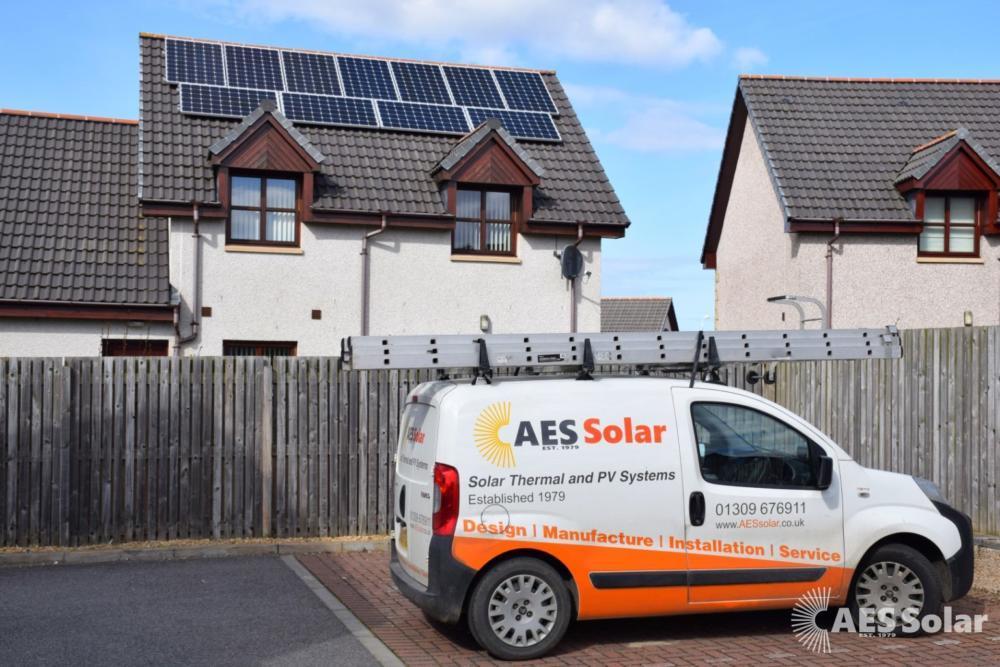 Solar PV installation at Forres, Moray