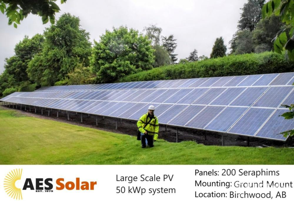 Ground-mount solar PV for domestic property in Birchwood, Aberdeenshire