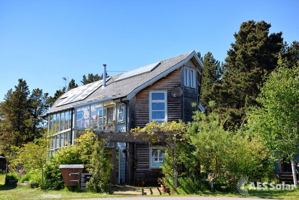 Combined solar PV and thermal, in Findhorn, Moray