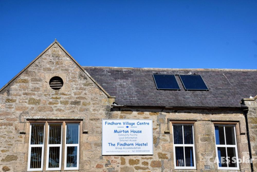 AES Supremacy, solar thermal panels, Findhorn, Moray