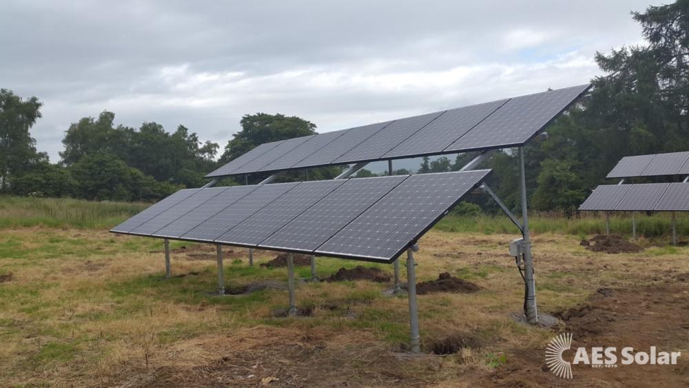 Solar ground mount in Mintlaw, Aberdeenshire