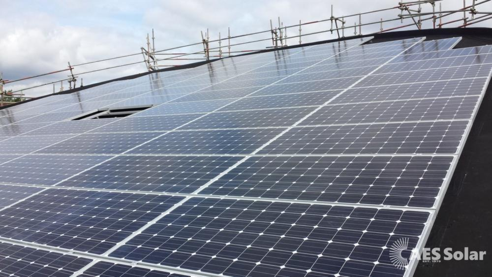 Commercial roof-mounted solar PV system in Perthshire