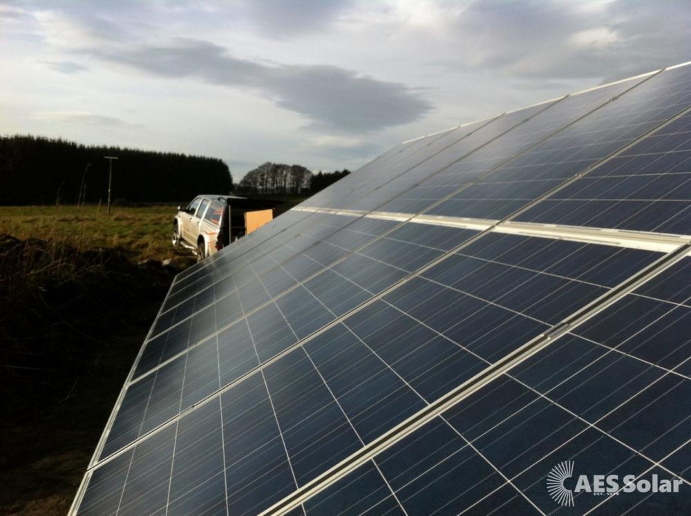Solar ground mount in Aberdeesnhire