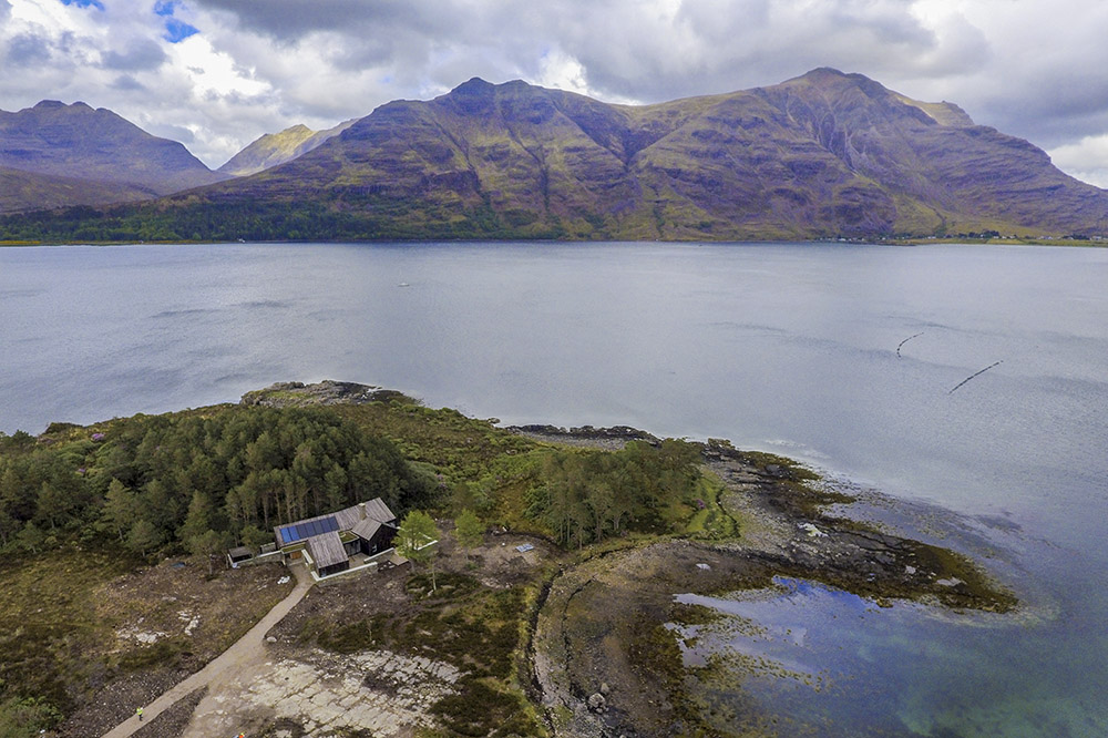 The 'challenging' location in the north-west Highlands