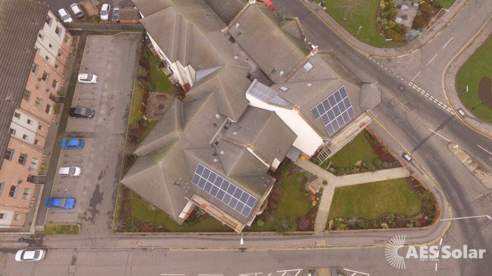 A solar PV system for a flatted development in Forres, Moray