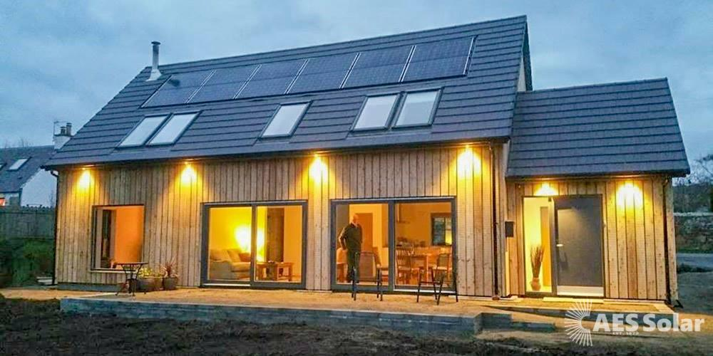 Roof-integrated solar PV on an Inverness property designed by architect Ian Macbeath (www.thermalpassive.com)