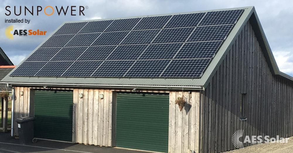 Sunpower PV panels installed by AES in Inverurie, Aberdeenshire
