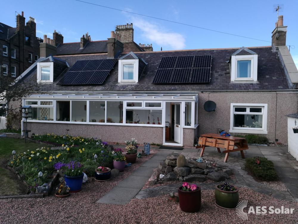 4kW Sunpower E327 panels in Arbroath
