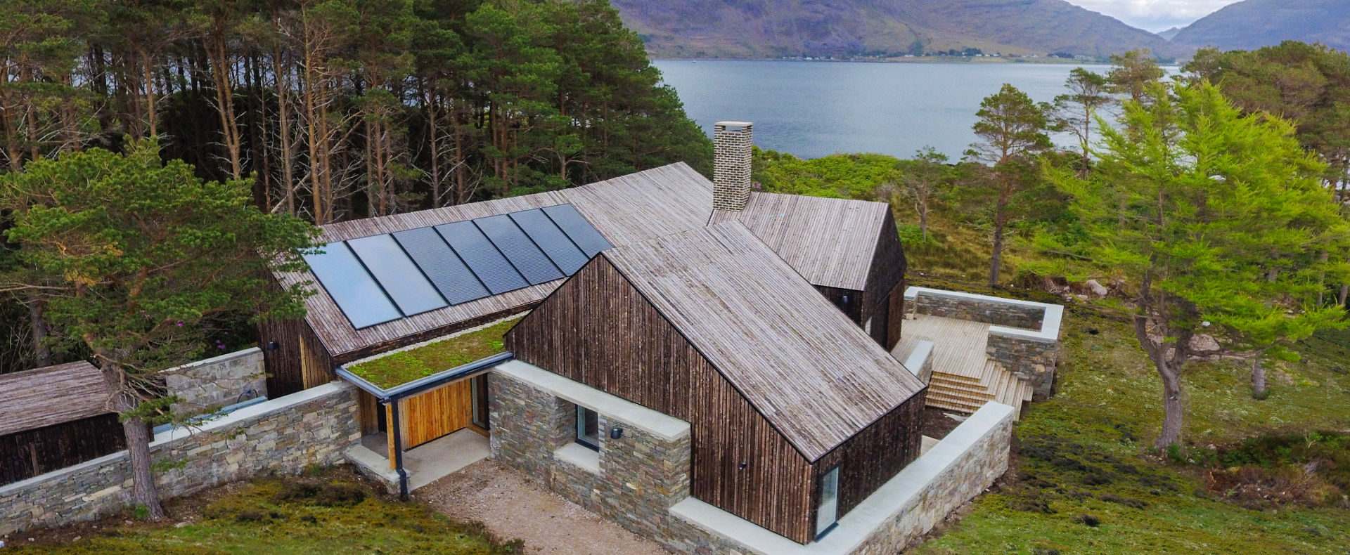Offf-grid retreat overlooking a loch