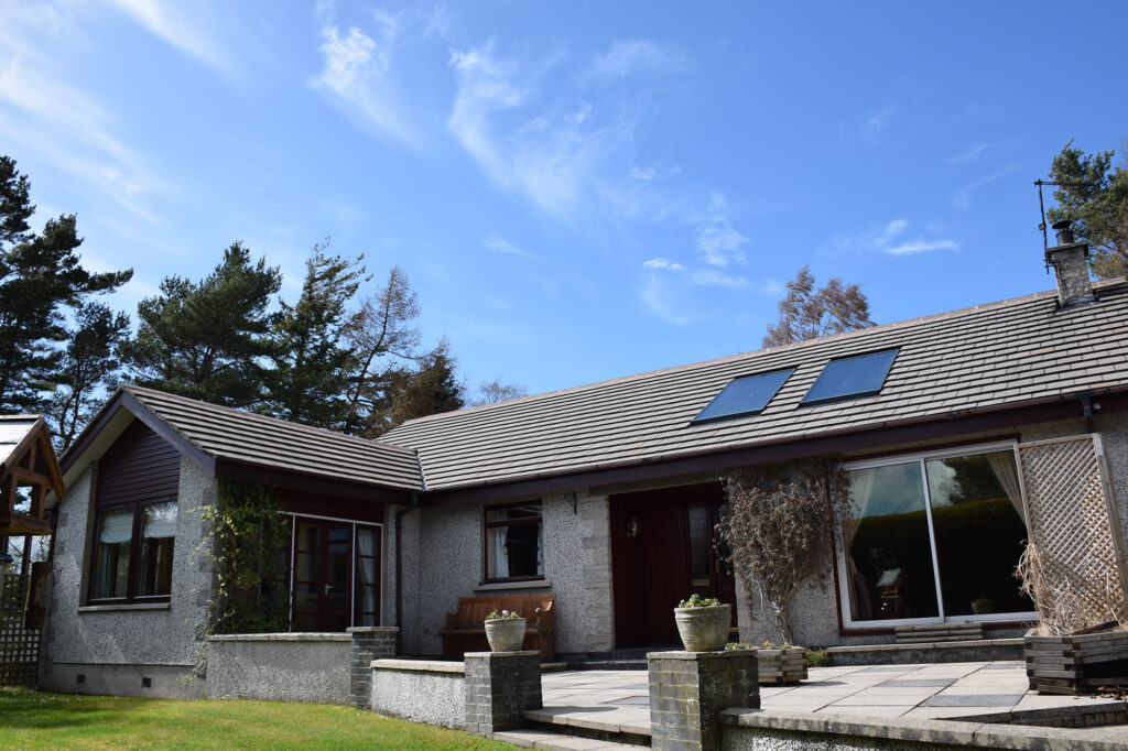 Two solar thermal panels on a domestic property