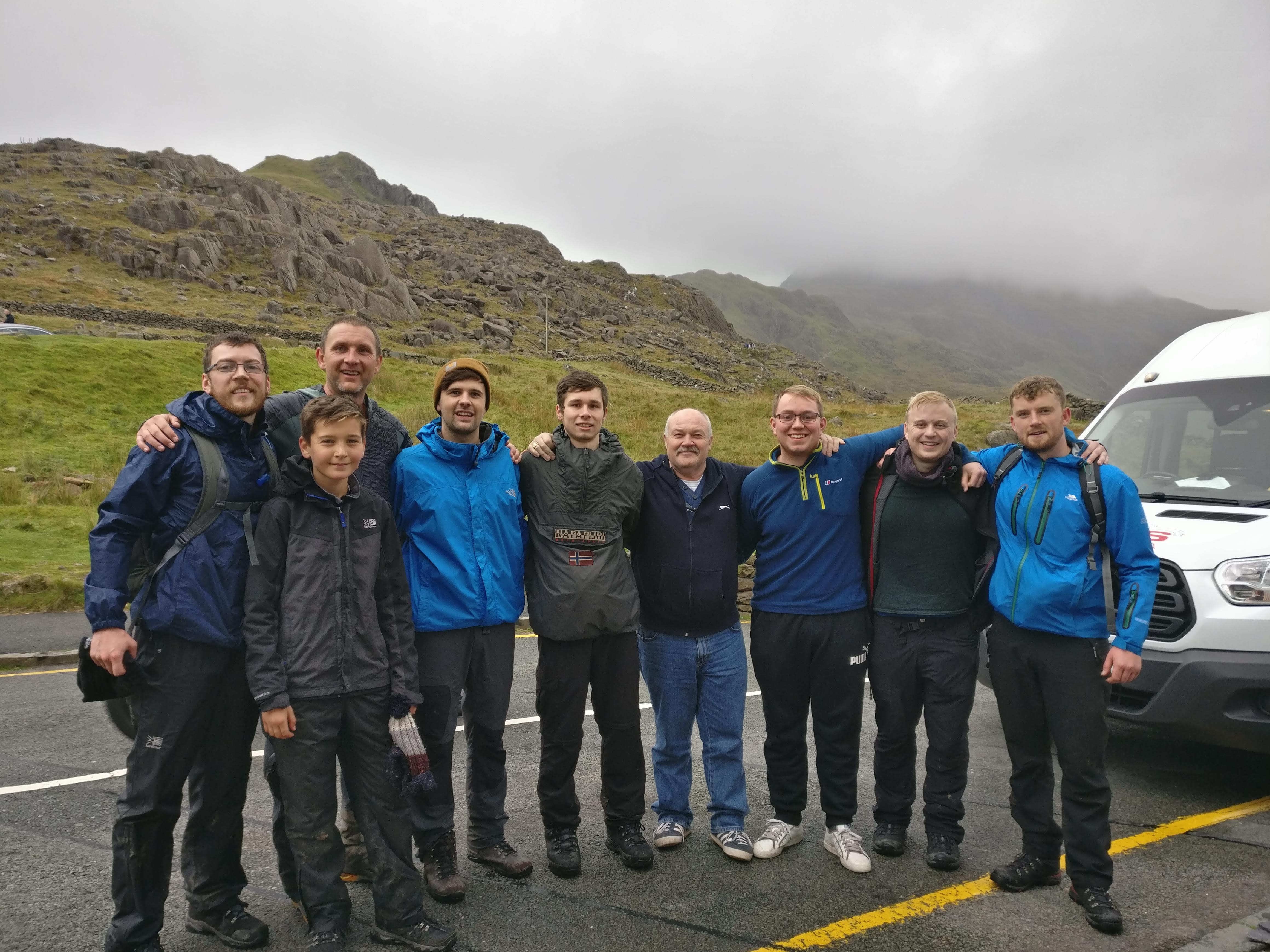 AES Solar team who completed the three peak challenge