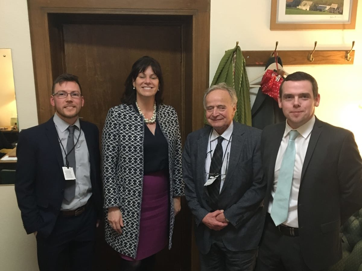 AES Solar George and Josh with Claire Perry and Douglas Ross