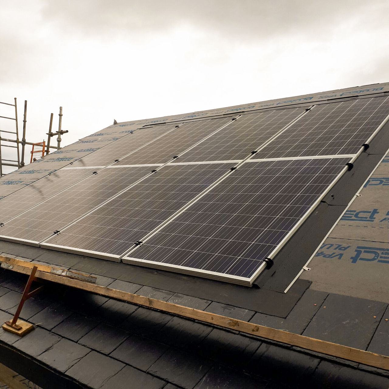 AES Solar panels being installed on a residential property