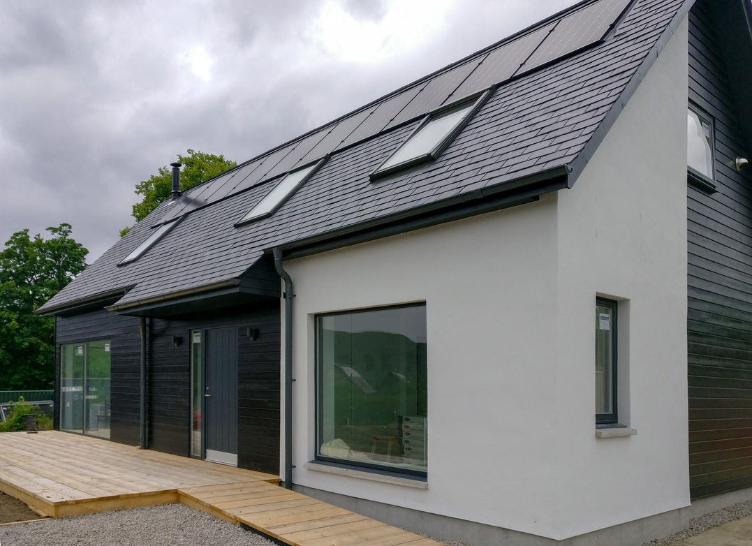 AES Solar installation on a new-build home